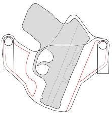 leather holster pattern