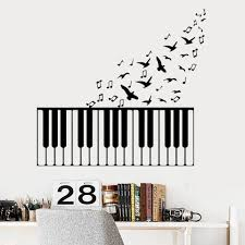 Classic Music Piano Wall Stickers For Kids Girls Bedroom Decor Removable Room Decoration Wall Art Decal Vinyl Wallstickers Wall Stickers Aliexpress