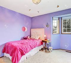 Bright Kids Room Interior In Light Lavender With Soft Carpet Stock Photo Picture And Royalty Free Image Image 30322262
