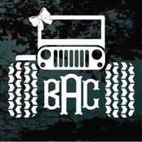 Jeep Monogram Decals Jeep Stickers Car Monogram Decal Monogram Vinyl Decal