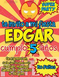 Invitacion Para Fiesta Infantil Dibujos Gall