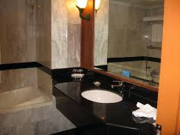 big mirror and really comfortable bath