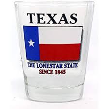 com texas state map shot glass