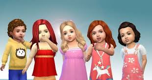 sims 4 child hair mod with male