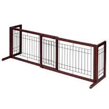 Good Life Usa Wooden Fence Freestanding Pet Dog Gate Indoor Adjustable Gates Coffee Color 72