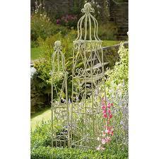 set of 2 victorian obelisks garden