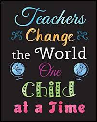 teacher gift notebook inspirational quote journal teachers change