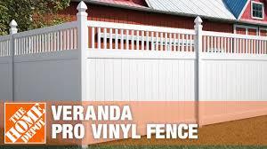 Veranda Pro Vinyl Fence The Home Depot Youtube