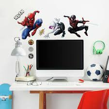 Spider Man Miles Morales Wall Decals Kids Room Marvel Spiderman Stickers Decor For Sale Online