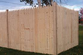 6 X 8 Natural Wood Stockade Fence Panel At Menards