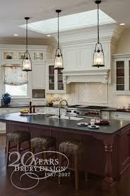 love the pendant lights over the island