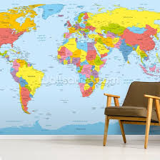 colourful world map wallpaper