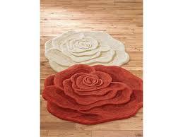 rose shaped rug