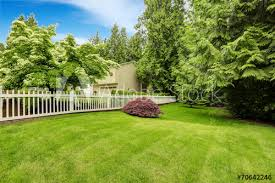 Beautiful Front Yard Landscape With White Fence Buy This Stock Photo And Explore Similar Images At Adobe Stock Adobe Stock