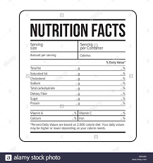 blank food label template best sle