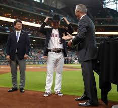 Nori Aoki honored for 2,000th hit before tonight's game ...
