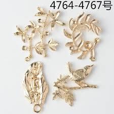 50pcs gold color flower branch leaf