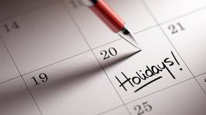 Image result for holiday calendar