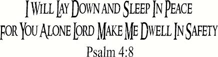 Buy Psalm 4 8 Vinyl Wall Art I Will Lay Down And Sleep In Peace For You Alone Lord Make Me Dwell In Safety Decal Home Quote Lettering Christian Verse Scripture Bible In
