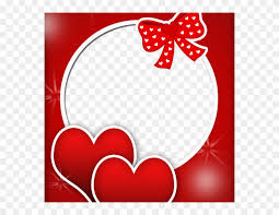 red love frame frame round png hd