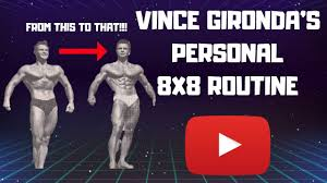 vince gironda s personal 8x8 routine