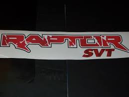 Raptor Svt Full Color Graphic Window Decal Sticker