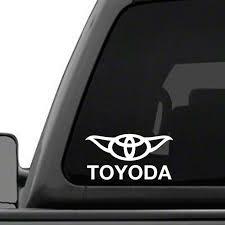Toyota Toyoda Star Wars Yoda Car Truck Window Vinyl Decal Sticker Us Polybull Com