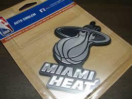 Nba Miami Heat Emblem Sticker Decal For Cars Miami Heat Basketball Ebay