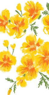 cute iphone wallpaper fl yellow