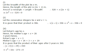 chapter 4 quadratic equations ncert