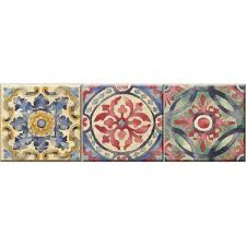 Wall Pops 6 5 In X 144 In Iznik Tile Stair Stripe Decal Wpss1984 The Home Depot