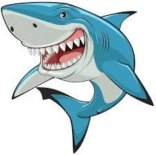 cartoon shark characters stock vectors