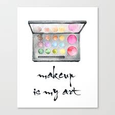 makeup is my art canvas print by
