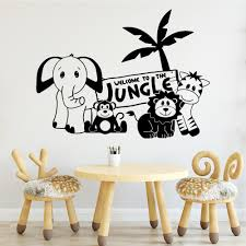 New Design Animal Wall Decal Living Room Removable Mural Kids Room Nature Decor Diy Pvc Home Decoration Adesivi Murali Buy At The Price Of 4 08 In Aliexpress Com Imall Com