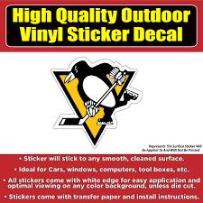 Pittsburgh Penguins Hockey Vinyl Car Window Laptop Bumper Sticker De Colorado Sticker