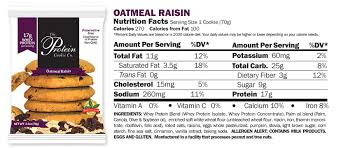 the protein cookie co oatmeal raisin