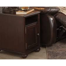 barilanni chairside end table with usb