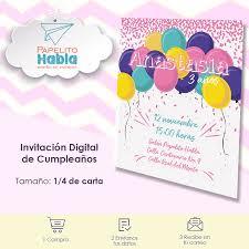 Invitaciones Digitales Infantiles 50 00 En Mercado Libre