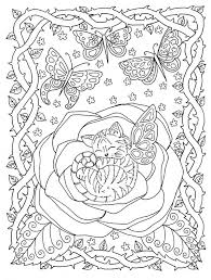 Instant Download Kleurplaat Pagina Katje In Rose Van De Etsy