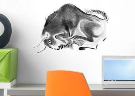 Amazon Com Wallmonkeys Prehistoric Cave Bull Wall Decal Peel And Stick Animal Graphics 18 In W X 12 In H Wm406548 Home Kitchen