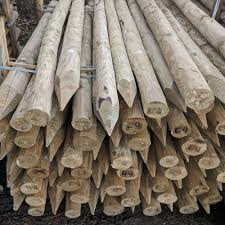 Peeled Round Pointed Posts From The Crestala Fencing Centre