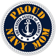 Amazon Com Proud Navy Mom Us Armed Forces Millitary Mom Bumper Sticker Decal 5x5 In Automotive