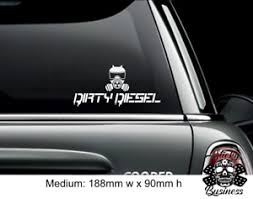 Dirty Diesel Sticker Vw Euro Drift Car Vinyl Decal White Ebay