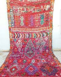 big moroccan boujaad rug 50 years old