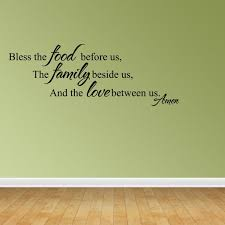 Wall Decal Quote Bless The Food Before Us The Family Beside Us And The Jr920 Walmart Com Walmart Com