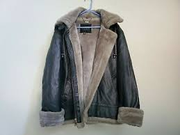 winter leather fur coat jacket mens