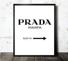 Prada Marfa Print Prada Poster Gossip Girl By Oneblurpictures 15 00 Prada Marfa Motivational Art Prints Cafe Wall Art