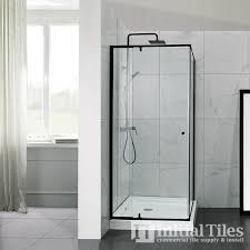 black aluminium frame shower screen