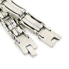 Felix Perry Men's Heavy duty Stainless Steel Bike Chain Bracelet Bold  Chunky 9.05 Inch - Reviews
