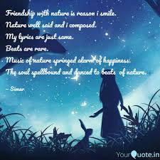 friendship nature is quotes writings by simarpreet